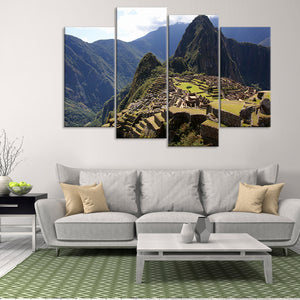 Machu Picchu Multi Panel Canvas Wall Art - Nature