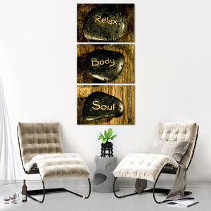 Relax Body And Soul Multi Panel Canvas Wall Art - Spa
