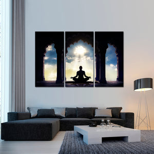 Meditation Multi Panel Canvas Wall Art - Buddhism