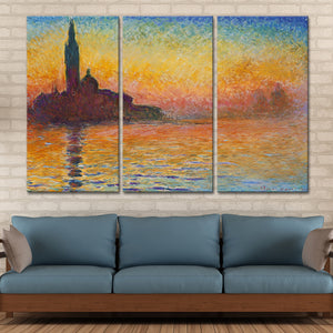 San Giorgio Maggiore At Dusk Multi Panel Canvas Wall Art - Classic_art