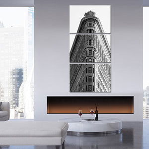 Flatiron Building Multi Panel Canvas Wall Art - Architecture