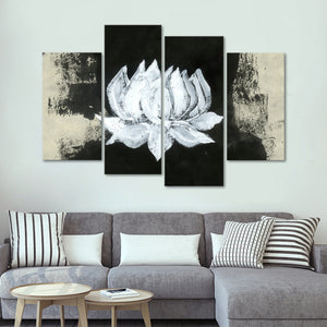 Zen Lotus Flower Multi Panel Canvas Wall Art - Lotus