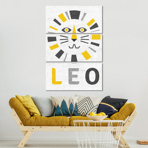 Leo Multi Panel Canvas Wall Art - Astronomy
