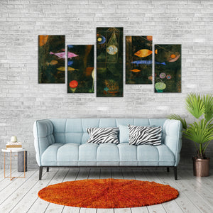 Fish Magic Multi Panel Canvas Wall Art - Classic_art