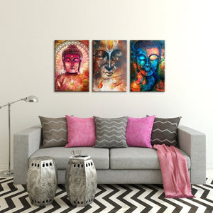 Diversified Buddha Canvas Set Wall Art - Buddhism