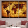 Vintage World Map Multi Panel Canvas Wall Art