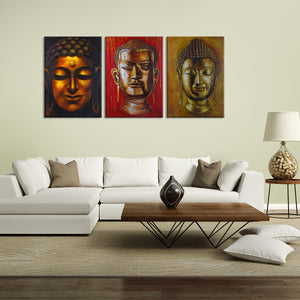 Aurous Buddha Canvas Set Wall Art - Buddhism