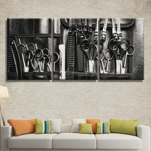 Hairstylist Multi Panel Canvas Wall Art - Hair