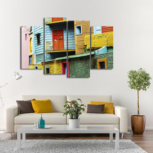 La Boca Multi Panel Canvas Wall Art - Color