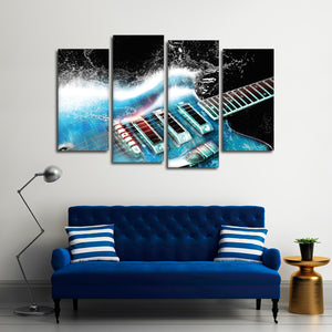 La Musica Multi Panel Canvas Wall Art - Guitar