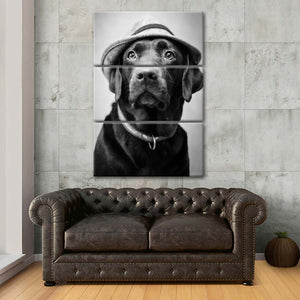 Labrador Boss Multi Panel Canvas Wall Art - Dog