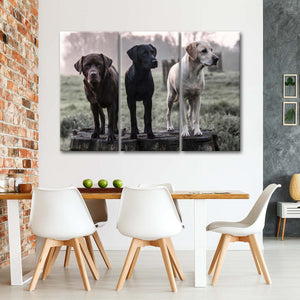 Labrador Colors Multi Panel Canvas Wall Art - Dog