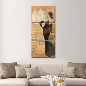 Ladies of Paris II Multi Panel Canvas Wall Art - Paris