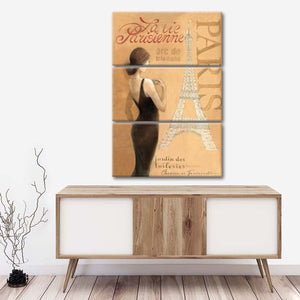 Ladies of Paris I Multi Panel Canvas Wall Art - Abstract