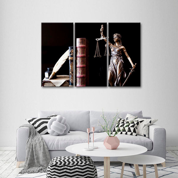Lady Justice Multi Panel Canvas Wall Art