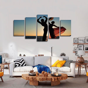Latin Dancer Multi Panel Canvas Wall Art - Dance