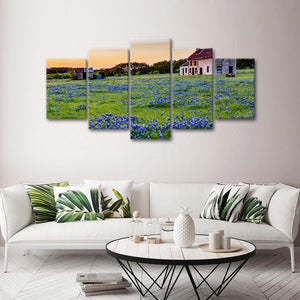 Lavender Farm Multi Panel Canvas Wall Art - Flower
