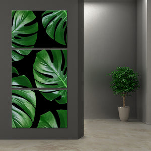 Leaf Deco Multi Panel Canvas Wall Art - Botanical