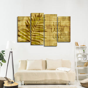 Leaf Of Love Multi Panel Canvas Wall Art - Inspiration