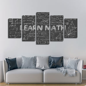Learn Math Multi Panel Canvas Wall Art - Education
