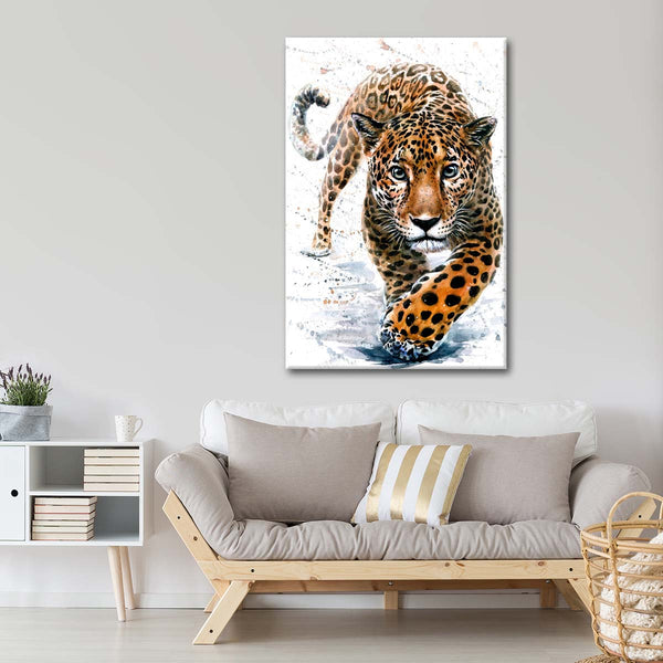 Leopard Hunting Multi Panel Canvas Wall Art