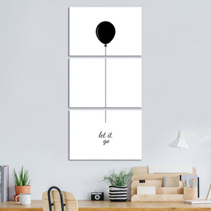 Let It Go Multi Panel Canvas Wall Art - Inspiration