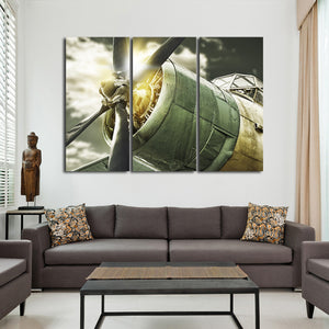 Lets Fly Multi Panel Canvas Wall Art - Airplane
