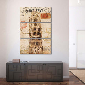 Letter from Pisa Multi Panel Canvas Wall Art - Landmarks