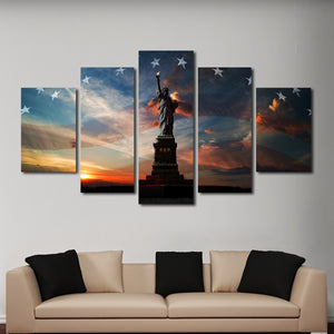 Liberty Flag Multi Panel Canvas Wall Art