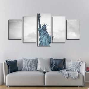 Liberty Statue Pop Multi Panel Canvas Wall Art - America