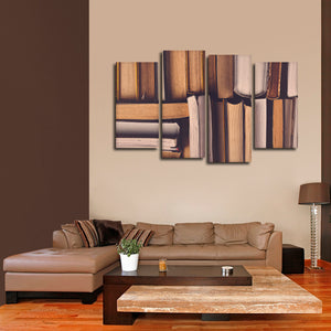 Library Multi Panel Canvas Wall Art - Education
