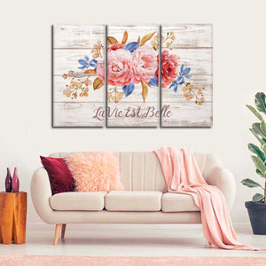 Life Is Beautiful Multi Panel Canvas Wall Art - Inspiration