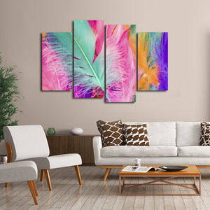 Light as a Feather Multi Panel Canvas Wall Art - Color