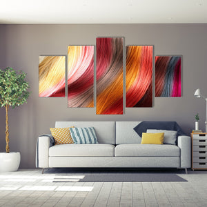 Glamorous Hair Multi Panel Canvas Wall Art - Hair