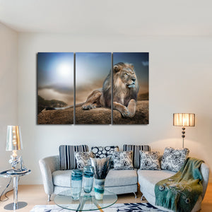 Lion King Multi Panel Canvas Wall Art - Lion