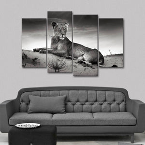 Lioness Multi Panel Canvas Wall Art - Lion