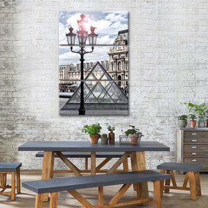 Little Pyramid Multi Panel Canvas Wall Art - Paris