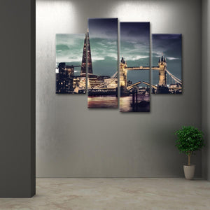 London Scape Multi Panel Canvas Wall Art - City