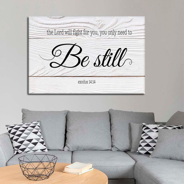 Lord Will Fight For you Canvas Wall Art