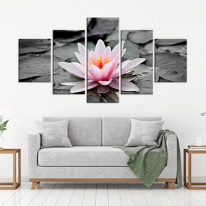 Lotus Pop Multi Panel Canvas Wall Art - Lotus
