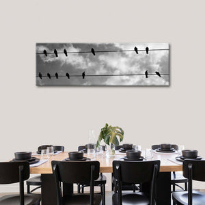Lounging Birds Multi Panel Canvas Wall Art - Bird