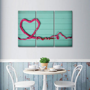 Love Knitting Multi Panel Canvas Wall Art - Fabric