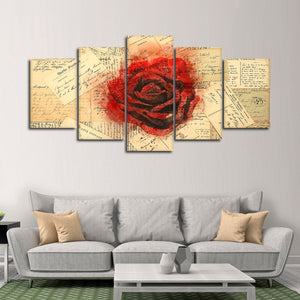 Love Letters Multi Panel Canvas Wall Art - Relationship