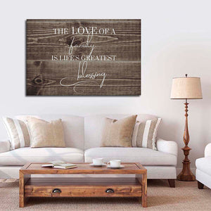 Love Of A Family Canvas Wall Art - Inspiration