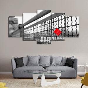 Love Padlock Pop Multi Panel Canvas Wall Art - Relationship