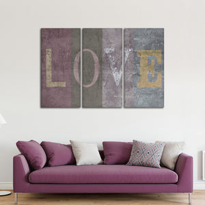 Love Sign Multi Panel Canvas Wall Art - Relationship