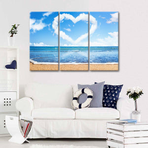 Love The Beach Multi Panel Canvas Wall Art - Beach