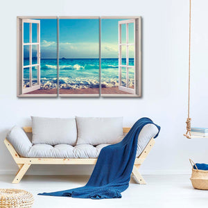 Love The Ocean Breeze Multi Panel Canvas Wall Art - Beach