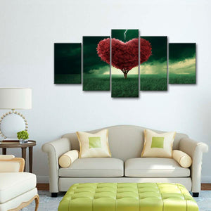 Love Tree Multi Panel Canvas Wall Art - Relationship