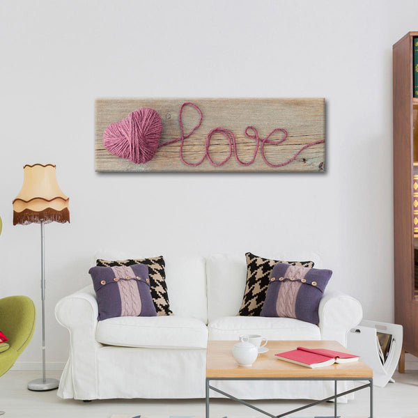 Love Yarn Multi Panel Canvas Wall Art